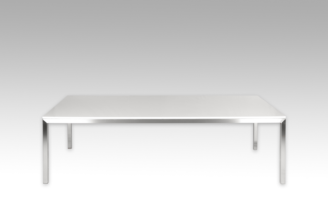 Claremont Dining Table Stone Top With Stainless Steel Frame