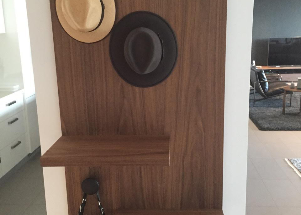 Custom Wall Hung Coat Amp Bag Rack Lowline
