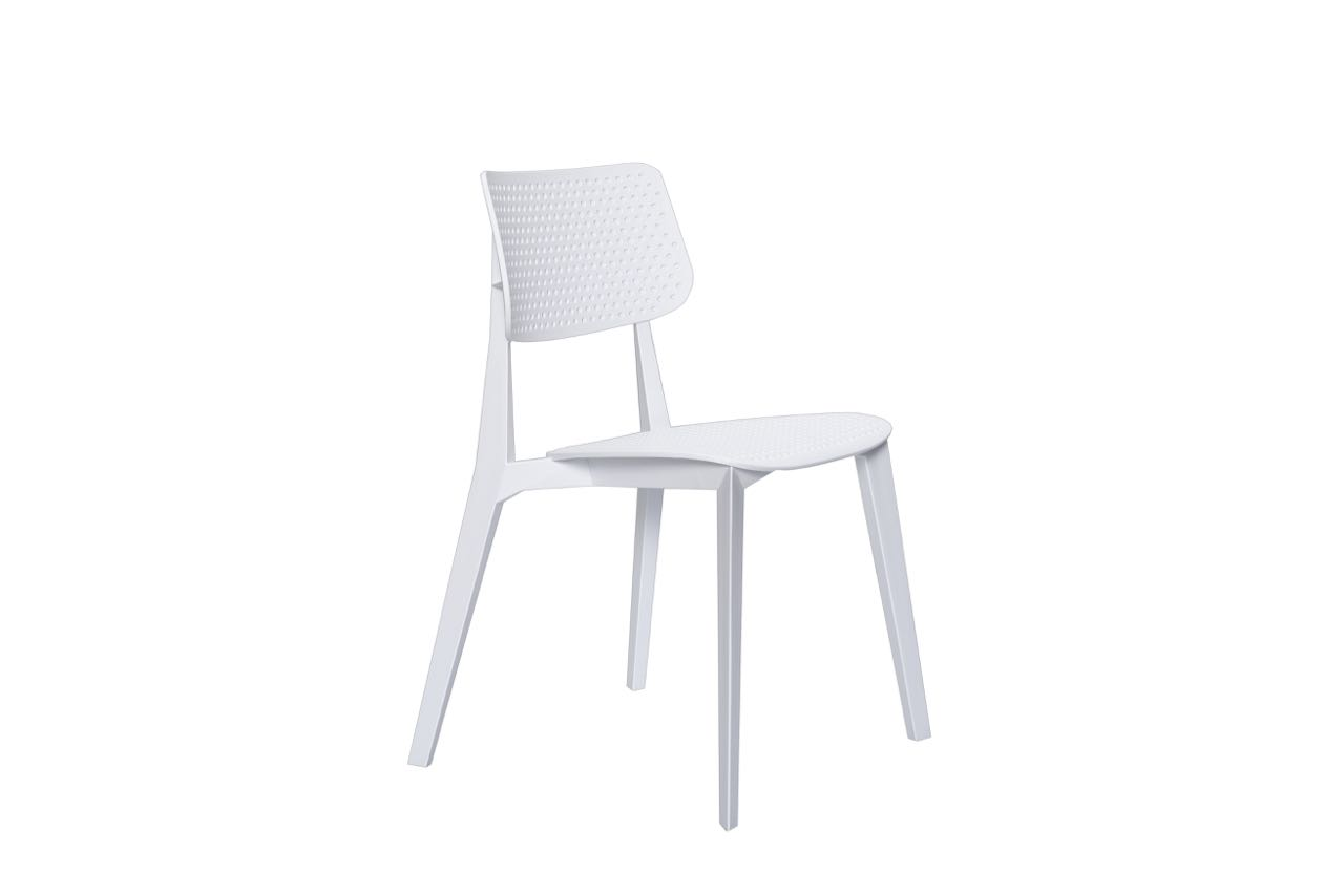 Stellar Dining Chair White with Holes