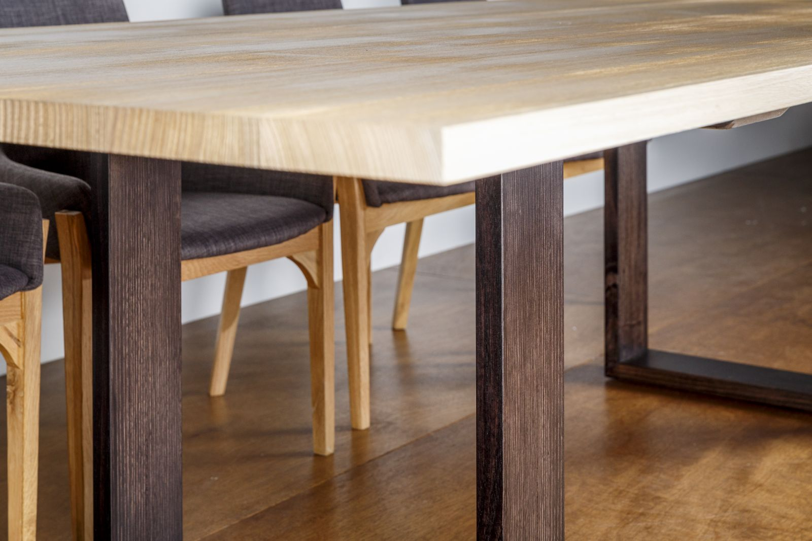 Sandblasted Dining Table - The Wembley with dining chairs
