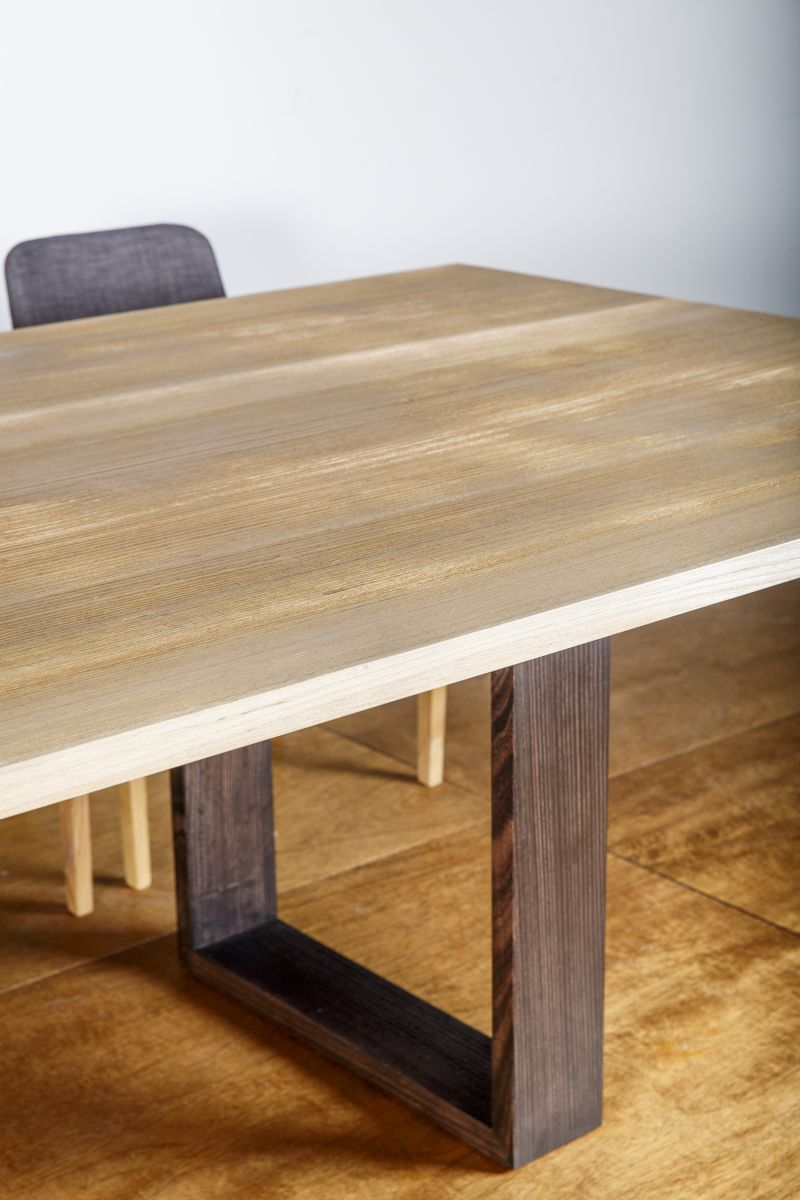 Sandblasted Timber Finish - Wembley Dining Table custom WA made