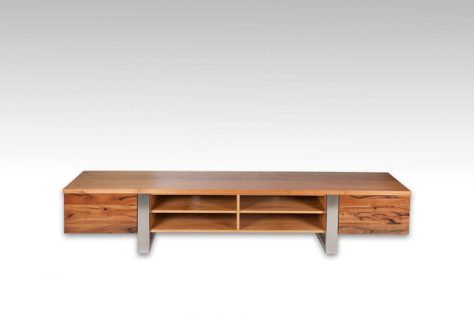 Cottesloe TV Unit - Marri timber with steel frame